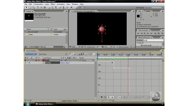 Understanding graphs and velocity: After Effects CS3 Professional Beyond the Basics