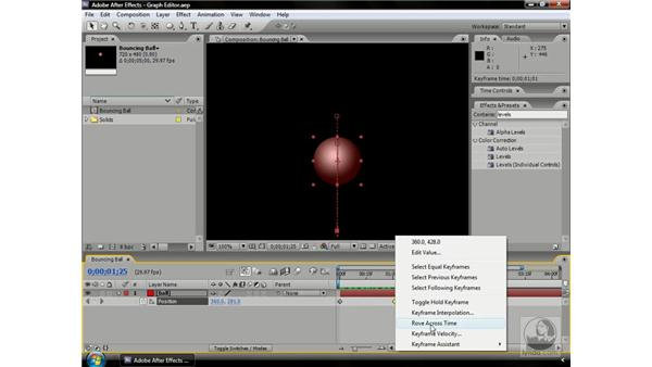 Creating roving keyframes: After Effects CS3 Professional Beyond the Basics