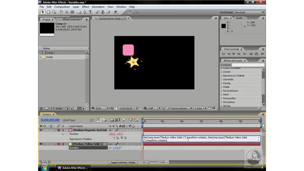 Using variables: After Effects CS3 Professional Beyond the Basics