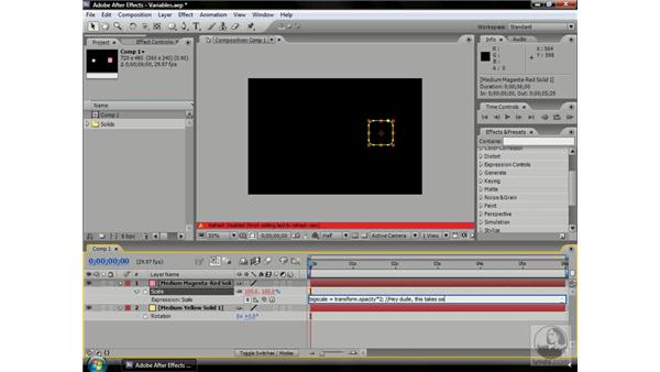 Adding comments to expressions: After Effects CS3 Professional Beyond the Basics