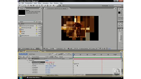 The wiggle expression: After Effects CS3 Professional Beyond the Basics