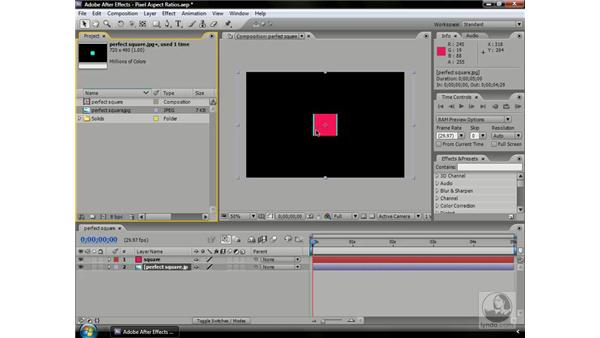 Pixel aspect ratios: After Effects CS3 Professional Beyond the Basics