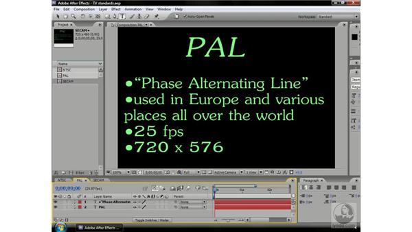 About NTSC PAL and SECAM: After Effects CS3 Professional Beyond the Basics