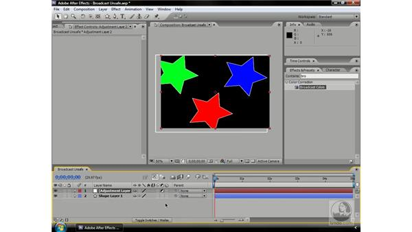 About broadcast-safe color: After Effects CS3 Professional Beyond the Basics