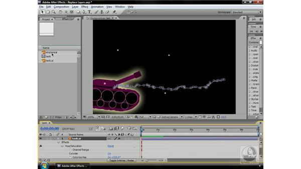 Replacing layers: After Effects CS3 Professional Beyond the Basics