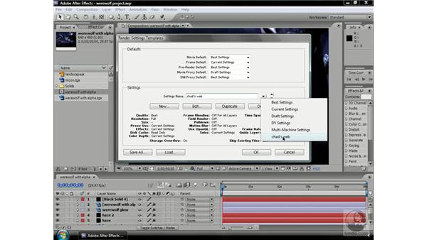 Making Render Queue templates: After Effects CS3 Professional Beyond the Basics