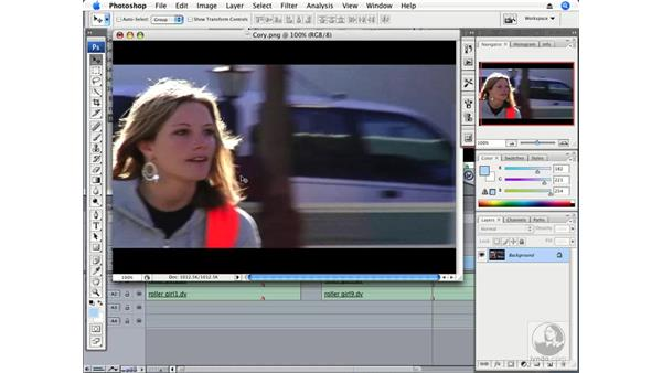Exporting a still frame to Photoshop: Final Cut Pro 6 Essential Effects