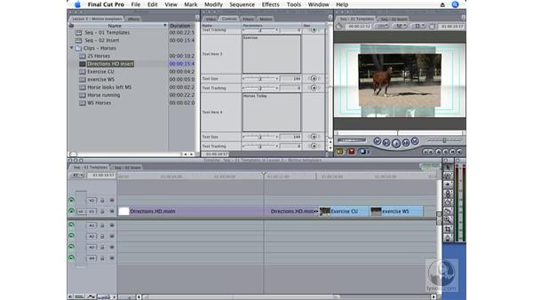 Selecting a Motion template: Final Cut Pro 6 Essential Effects