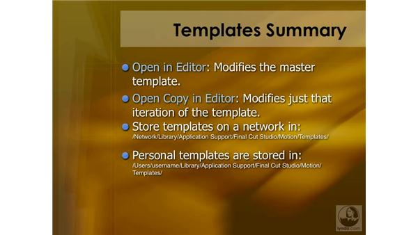 Motion template shortcuts: Final Cut Pro 6 Essential Effects