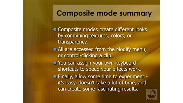 Composite modes summary: Final Cut Pro 6 Essential Effects