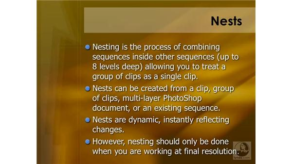 Introducing nesting: Final Cut Pro 6 Essential Effects
