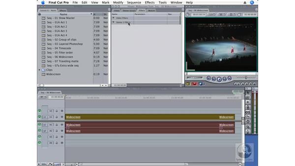 Wide-screen matte: Final Cut Pro 6 Essential Effects