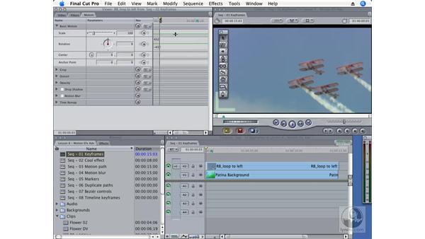 Adding and deleting keyframes: Final Cut Pro 6 Essential Effects