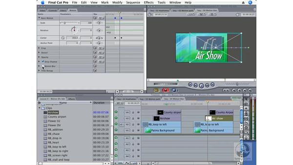 Animating text with keyframes : Final Cut Pro 6 Essential Effects