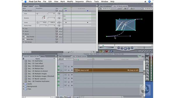 Using Bézier curves to create smoother motion paths: Final Cut Pro 6 Essential Effects