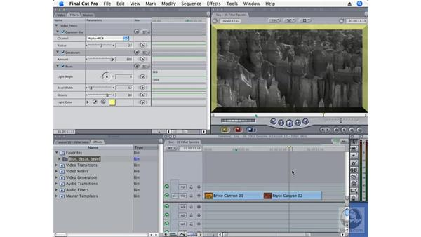 Saving and using favorite filters: Final Cut Pro 6 Essential Effects