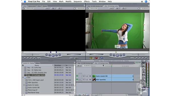 Creating a chroma key: Final Cut Pro 6 Essential Effects