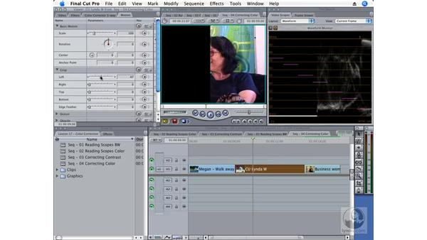 Applying color correction: Final Cut Pro 6 Essential Effects