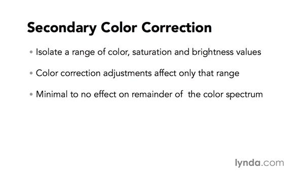 Introduction to quick secondary color-correction techniques: Video Post Tips Weekly