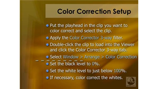 Color correction summary: Final Cut Pro 6 Essential Effects
