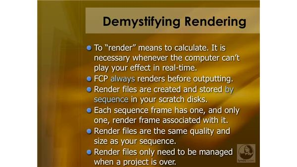 Introduction to rendering: Final Cut Pro 6 Essential Effects