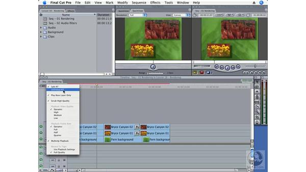 Rendering in Final Cut: Final Cut Pro 6 Essential Effects