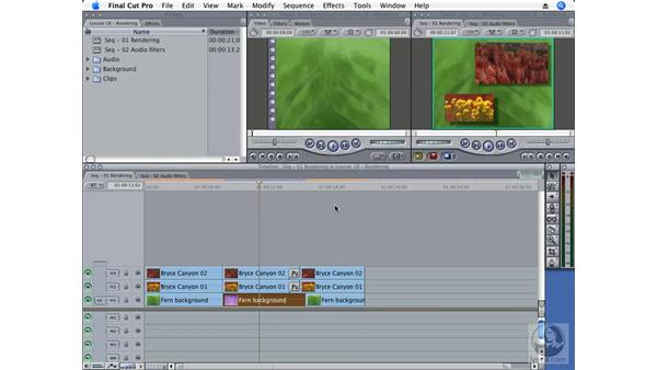 Playing unrendered sequences: Final Cut Pro 6 Essential Effects
