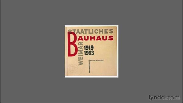 An overview of the Bauhaus: Type Project: Bauhaus Book Cover
