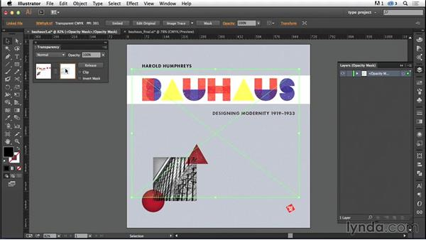 Adding a texture: Type Project: Bauhaus Book Cover