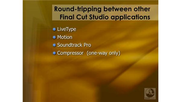 Round-tripping summary: Final Cut Pro 6 Essential Effects