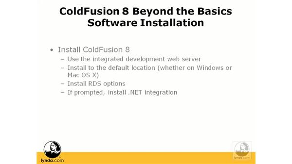 Installing the required software: ColdFusion 8 Beyond the Basics