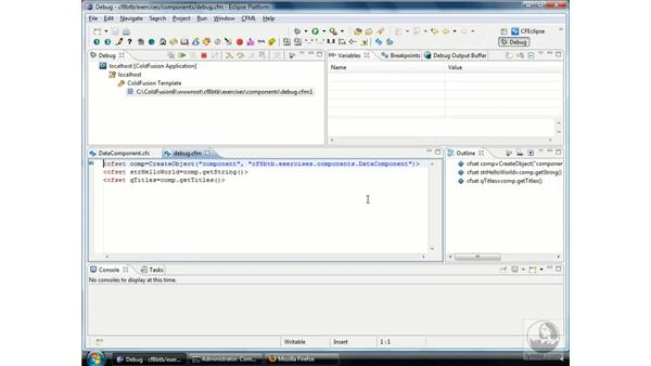 Using the ColdFusion debugger to inspect data: ColdFusion 8 Beyond the Basics