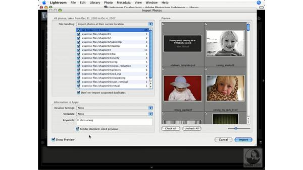 Using the exercise files: Lightroom 1.1 New Features