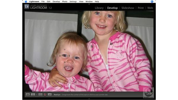 Removing red-eye: Lightroom 1.1 New Features