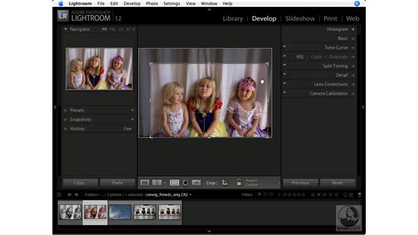 Using the Crop Overlay tool: Lightroom 1.1 New Features