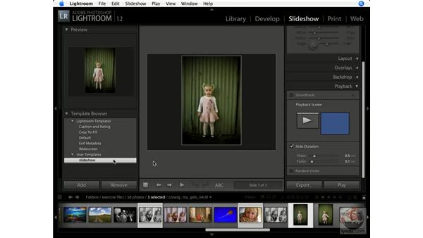 Using the Slideshow module: Lightroom 1.1 New Features