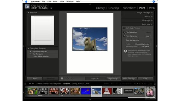 Setting print resolution in the Print module: Lightroom 1.1 New Features