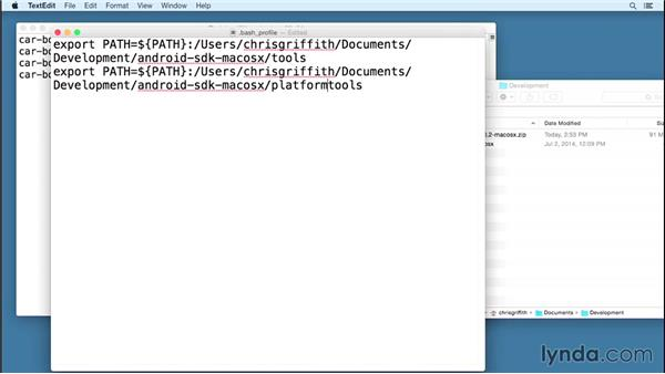 Installing the Android development environment for OS X: Building Mobile Apps with the PhoneGap Command-Line Interface