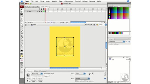Creating wallpaper: Flash CS3 Projects: Delivering Flash to Mobile Devices