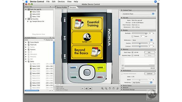 Creating a Flash Lite application: Buttons and keys: Flash CS3 Projects: Delivering Flash to Mobile Devices