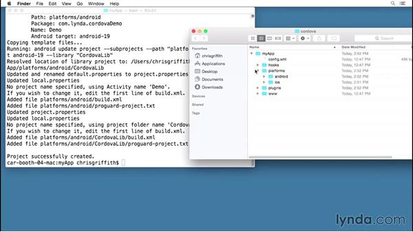 Building an iOS app with the Cordova CLI: Building Mobile Apps with the PhoneGap Command-Line Interface