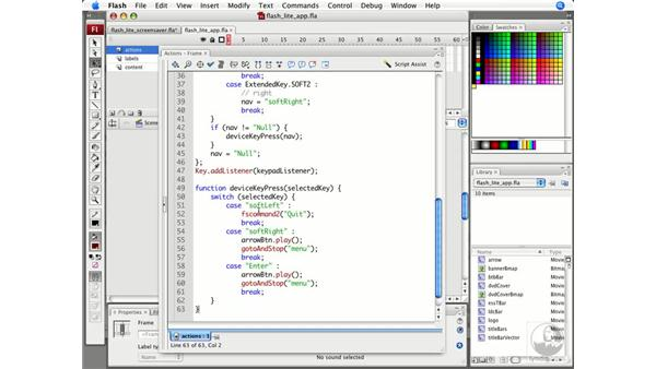 Creating a Flash Lite application: ActionScript: Flash CS3 Projects: Delivering Flash to Mobile Devices