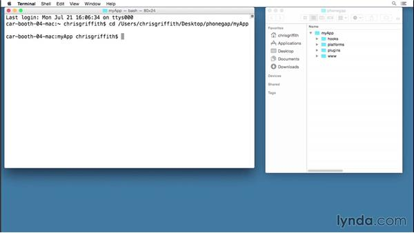 Adding a plugin: Building Mobile Apps with the PhoneGap Command-Line Interface