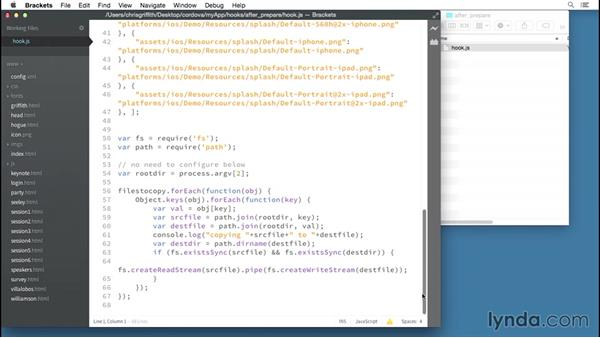 Adding a hook into the workflow: Building Mobile Apps with the PhoneGap Command-Line Interface