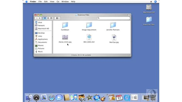 Using the exercise files: iPhoto '08 Essential Training