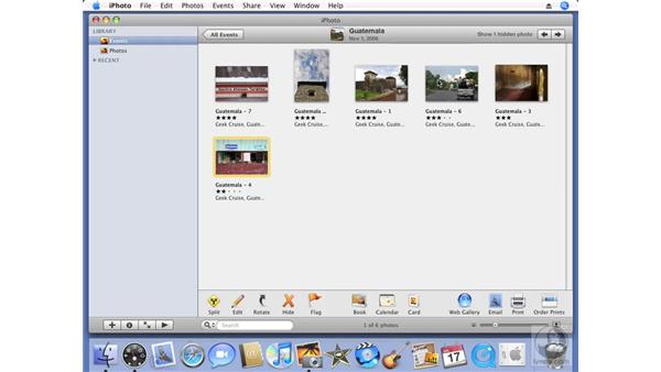 Interface changes: iPhoto '08 Essential Training