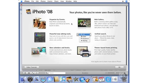 Launching iPhoto for the first time: iPhoto '08 Essential Training