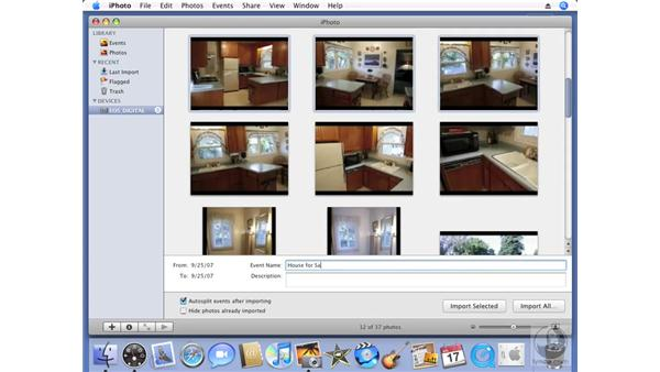 Importing images from your camera: iPhoto '08 Essential Training