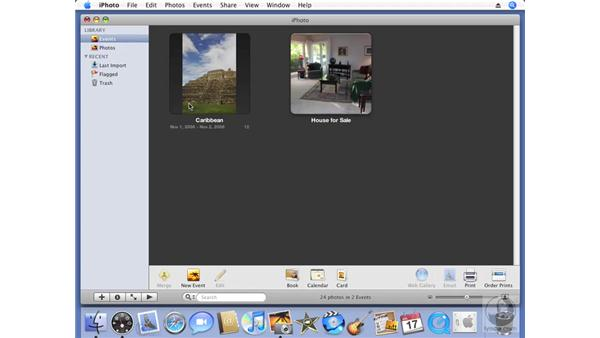 Importing photo files: iPhoto '08 Essential Training