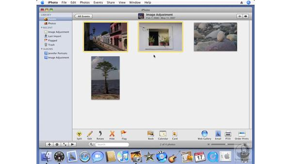 Creating a new event: iPhoto '08 Essential Training